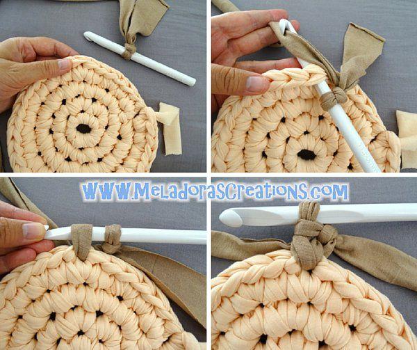 T Shirt Rug 5 Crochet Pinterest Crochet Free Crochet And Craft