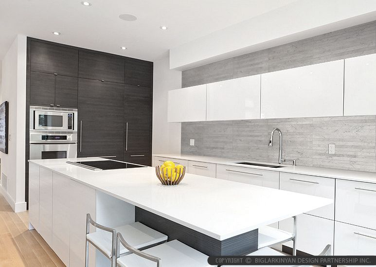 Black and gray colors modern kitchen backsplash ideas.