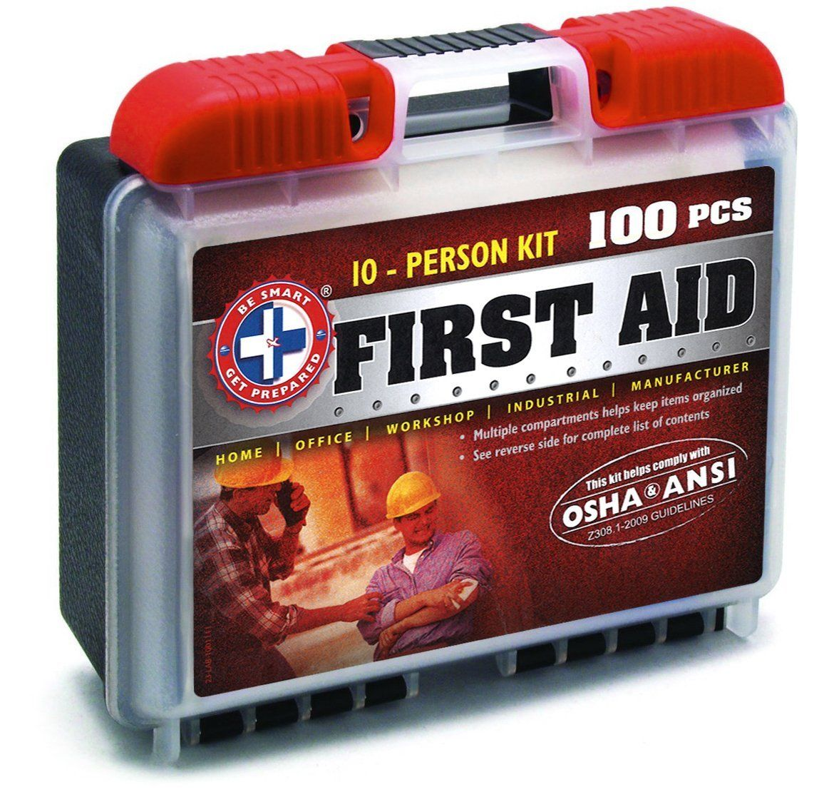 Be Smart Get Prepared 100 Piece First Aid Kit with ANSI