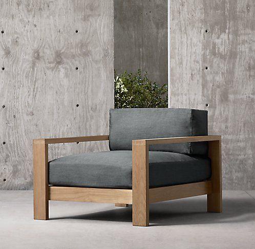 Cypress Teak Rh Modern Patio Lounge Chairs Furniture Furniture Decor