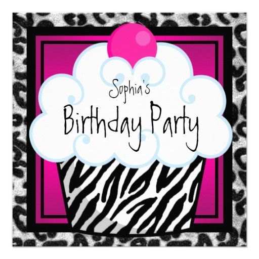 Hot Pink Zebra Girls Cupcake Birthday Party Announcement In our offer link above you will seeHow to          Hot Pink Zebra Girls Cupcake Birthday Party Announcement today easy to Shops & Purchase Online - transferred directly secure and trusted checkout...