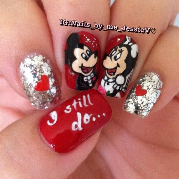 Mickey/Minnie Mouse Nails   Nail Art   Pinterest   Minnie mouse ...