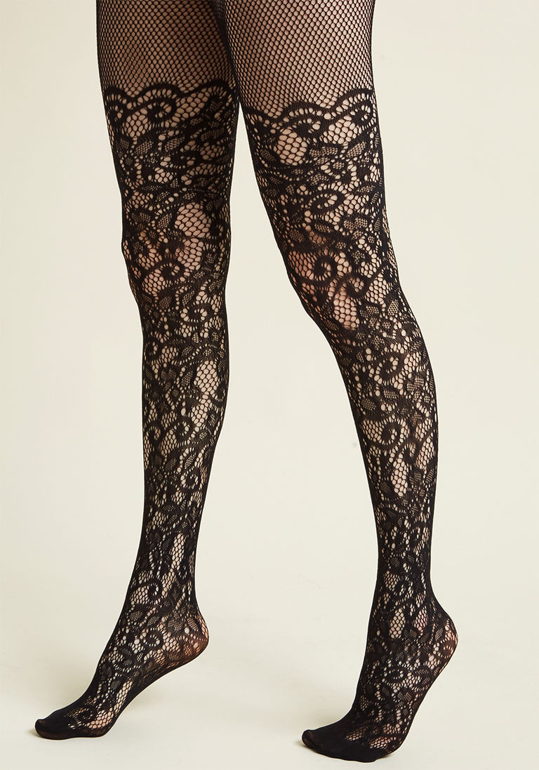 38e94057e Intricately Exquisite Tights in Black - Size OS
