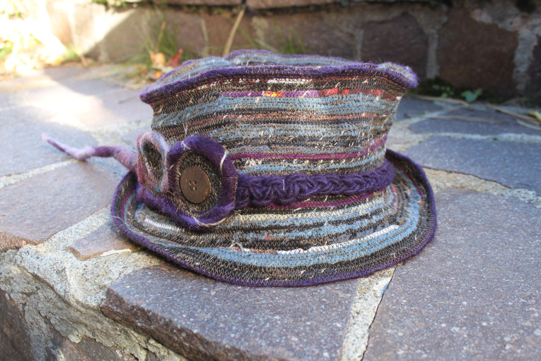 textil uprecyling steampunk hat trash zylinder hippie von