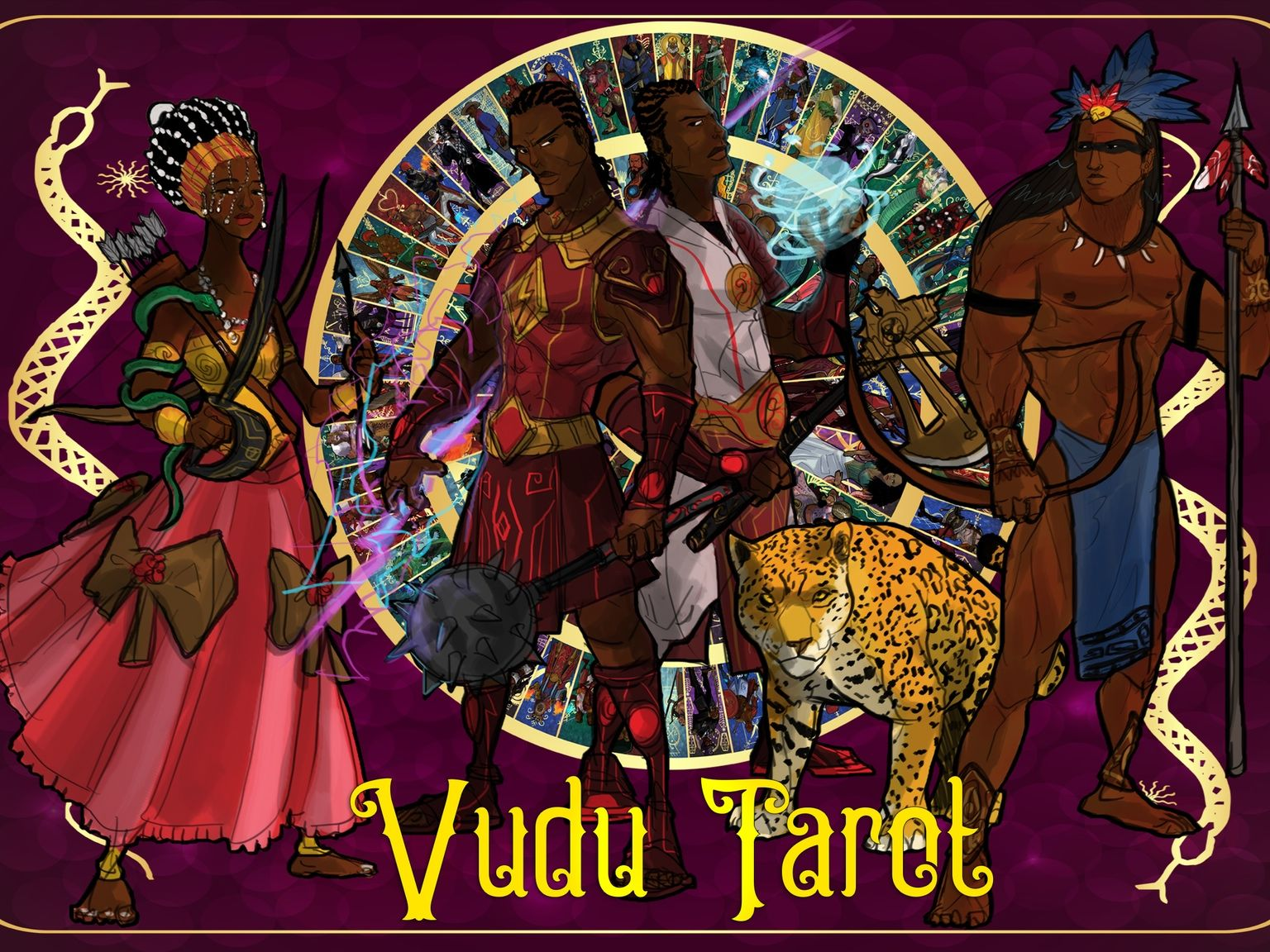 Indie selfpublishing of new voodoo tarot a comic book