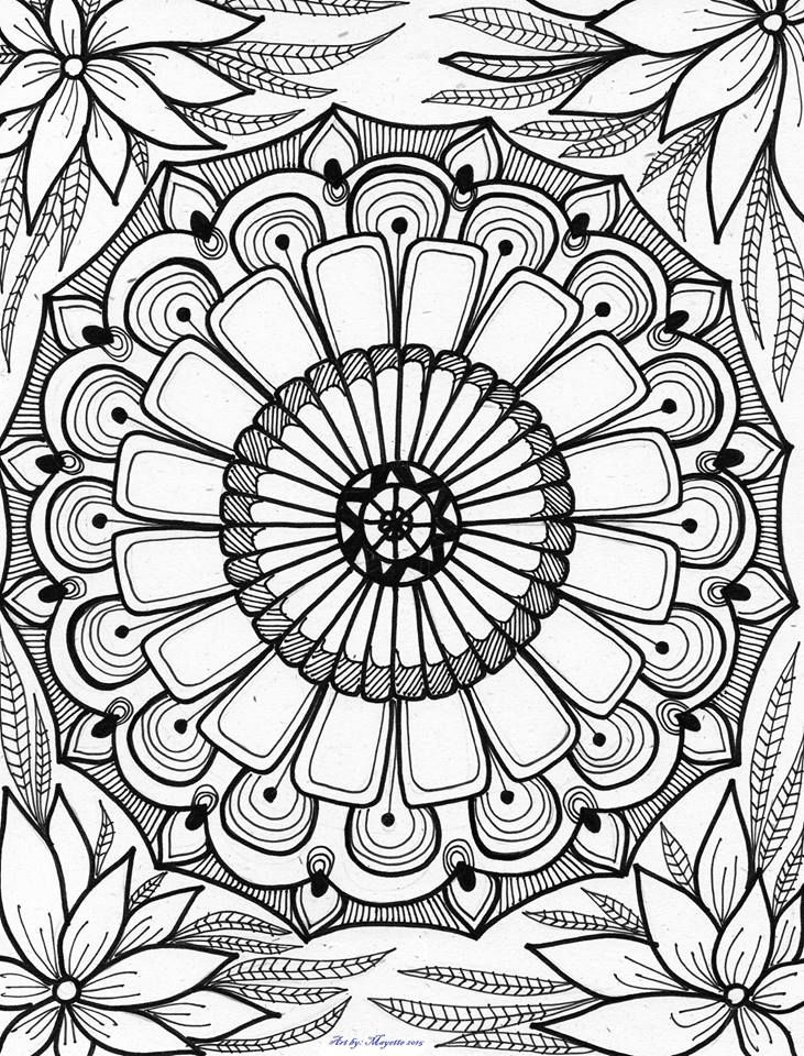 By ArtbyMayette * Abstract Doodle Zentangle Paisley