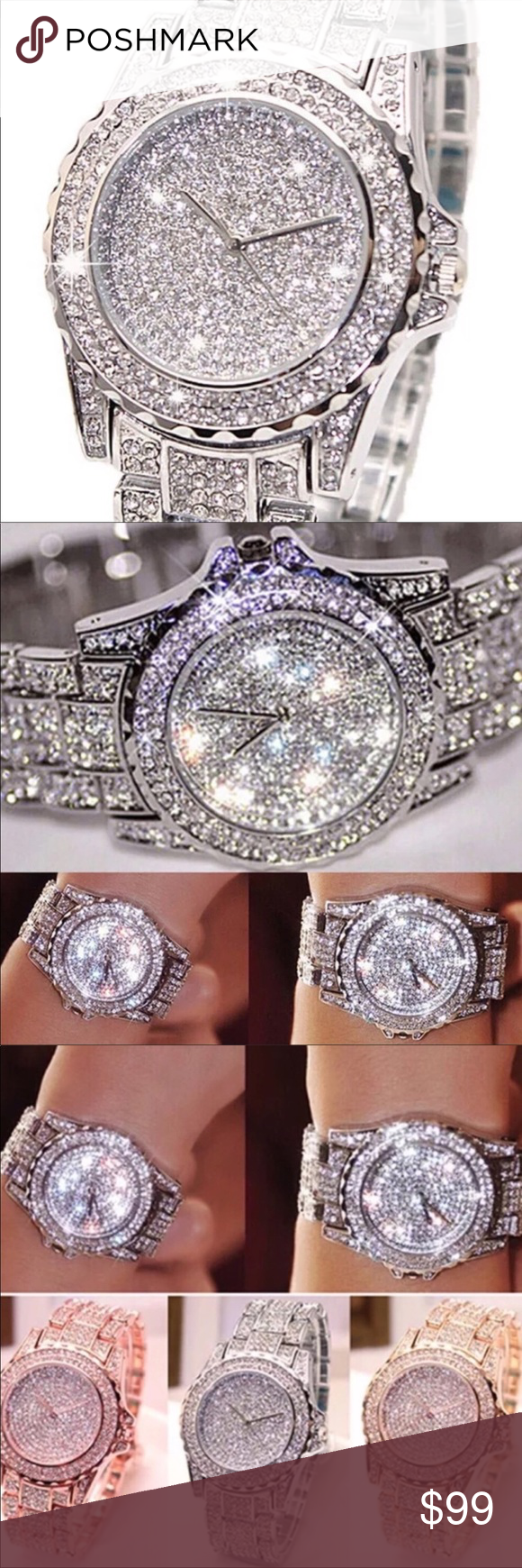 Silver is now Available Major Bling Watch