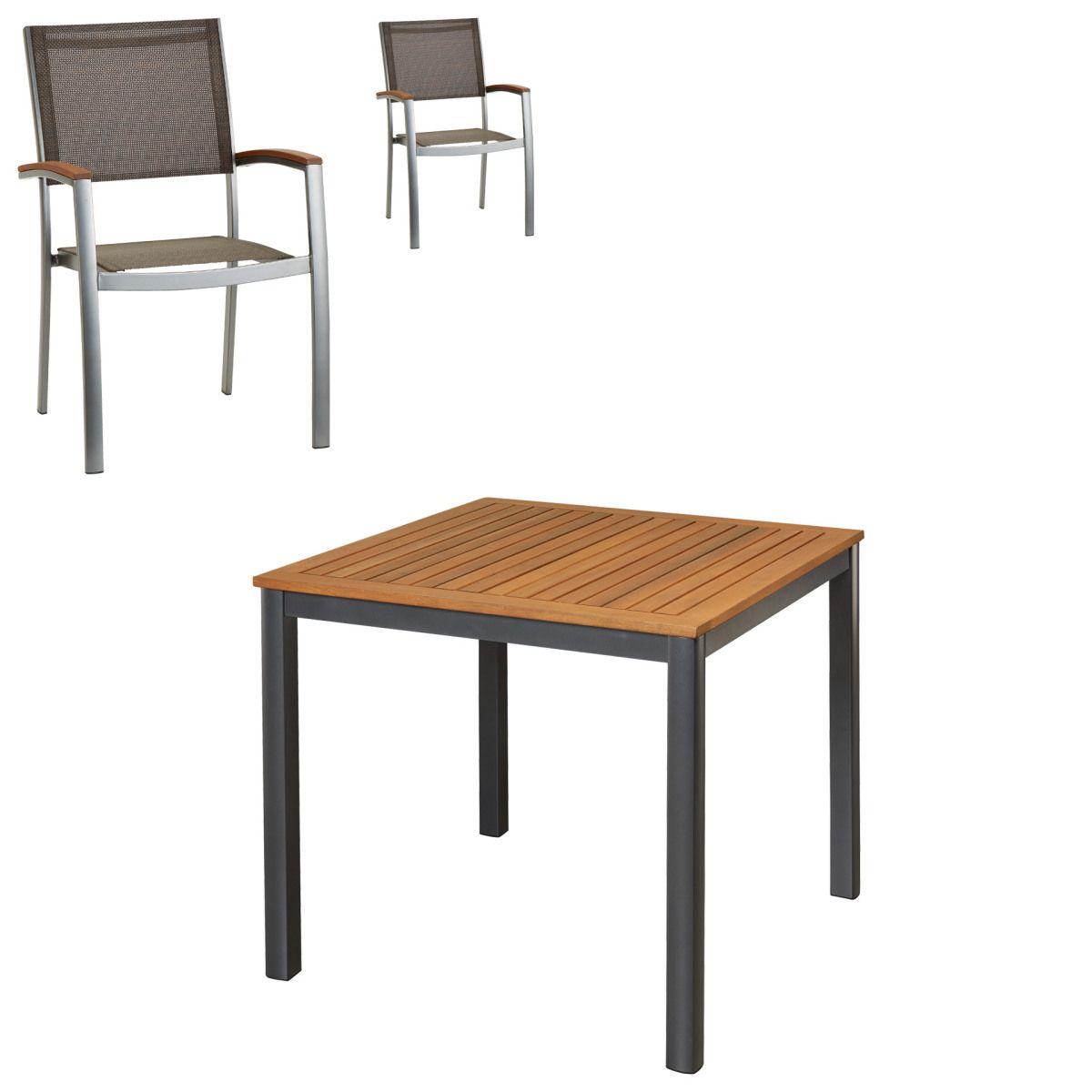 Gartenmöbel-Set San Francisco/Santiago (90x90, 2 Stühle) Jetzt ...