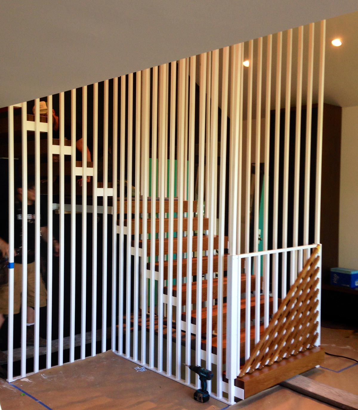 Staircase In Dunthorpe Remodel Safeguards Both Kids And | Mid Century Modern Stair Railing