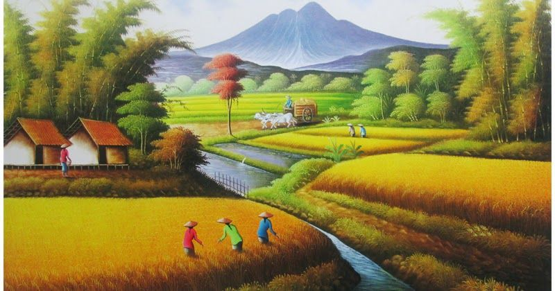 Gambar Lukisan Manusia Dengan Alam Khayal Download Gambar Lukisan Alam Gambar Lukisan Manusia Dengan Alam Khayalhttp Pema Pemandangan Lukisan Lukisan Lanskap