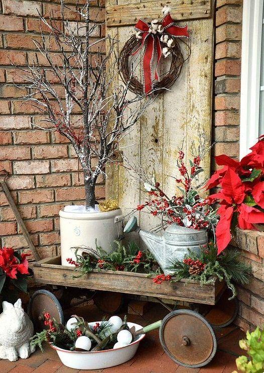 Pin de candace kirchner en happy holidays pinterest for Decoracion navidena rustica