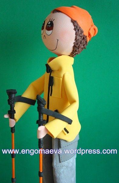 Doll Mountaineer and hiker. Original and handmade gift   ---    Muñeco Montañero y senderista. Regalo original y artesano