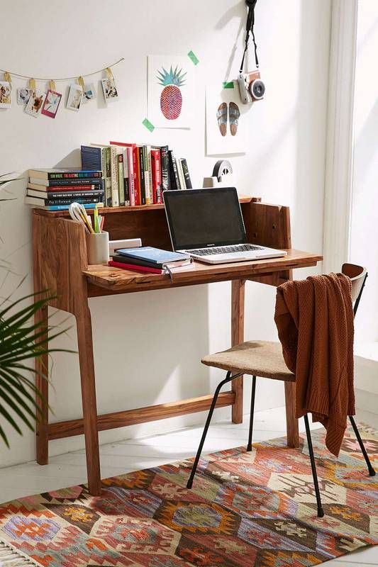 Genial Teeny Desk For Your Small Living Space