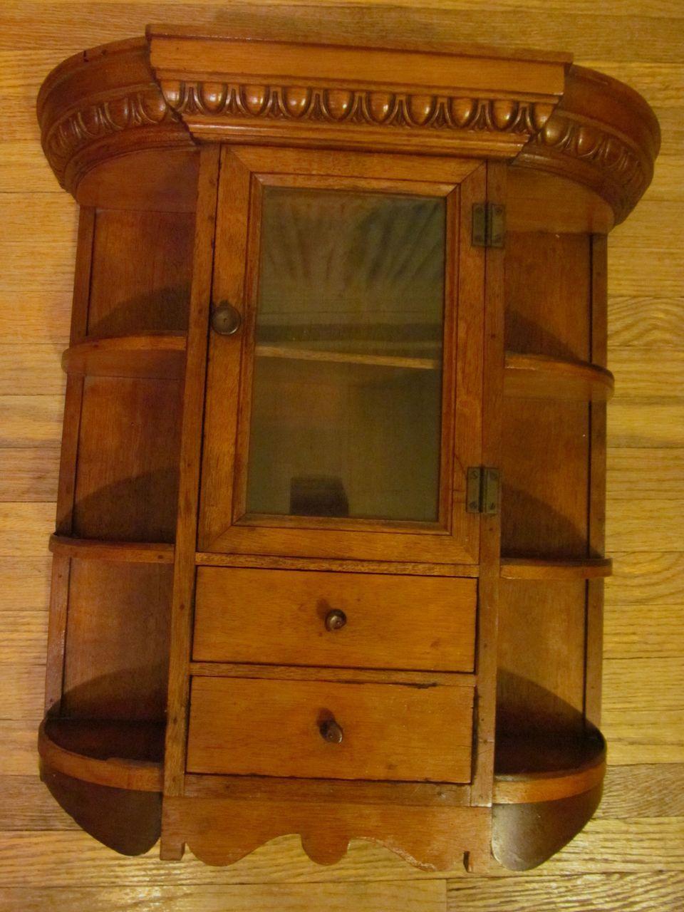 Walnut Barber Shop, Shaving Mug Cabinet | Antique Barber ...