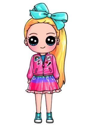 Jojo Siwa Kawaii Cute Kawaii Drawings Kawaii Girl Drawings