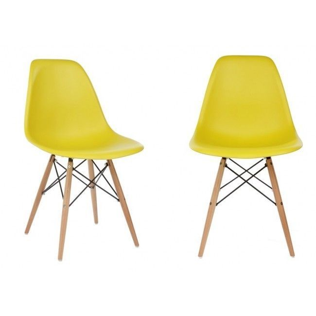 yellow plastic dining shell chair (set of 2) - overstock shopping