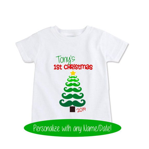 Custom My first Christmas T shirt Kids Xmas shirt Boys by Exit17 ...