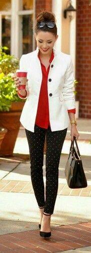 White, red, black
