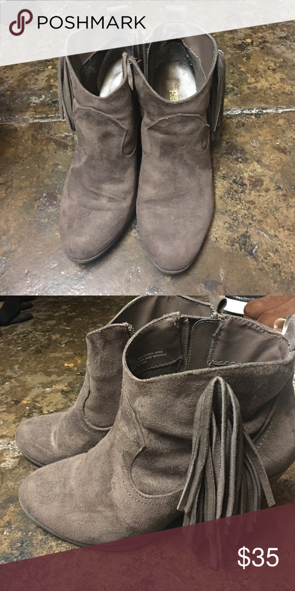 Suede booties size 9 Charolette russe size 9 booties good condition Shoes Ankle Boots & Booties