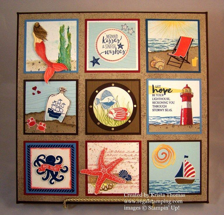 Seaside Shore Regal Stamping Box Frame Art Framed Art Coffee Theme