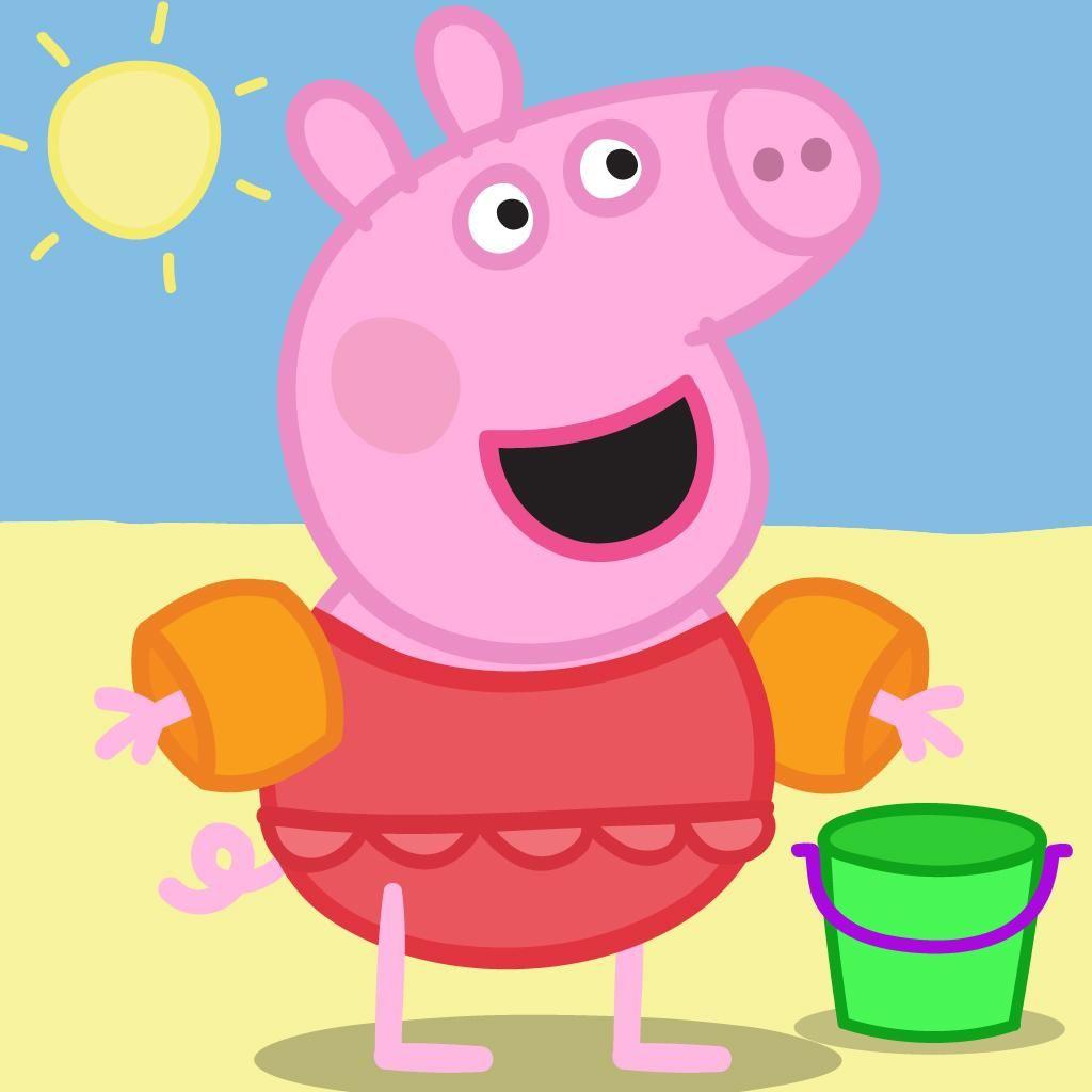 Peppa Pig Pink Wallpaper WP4-PEP-PIG-12