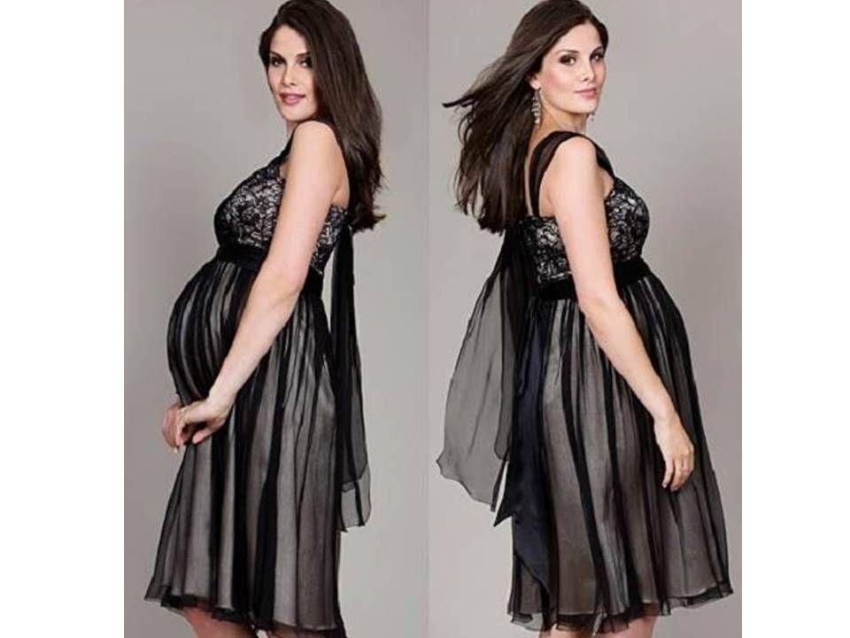 Vestidos de fiesta para embarazadas jovenes