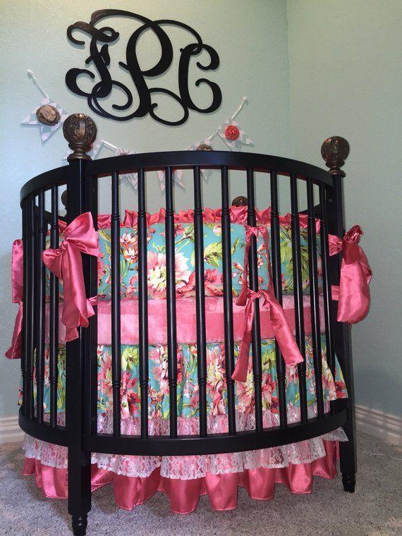 Round Crib Bedding,Round Crib Sets For Girls, Round Baby