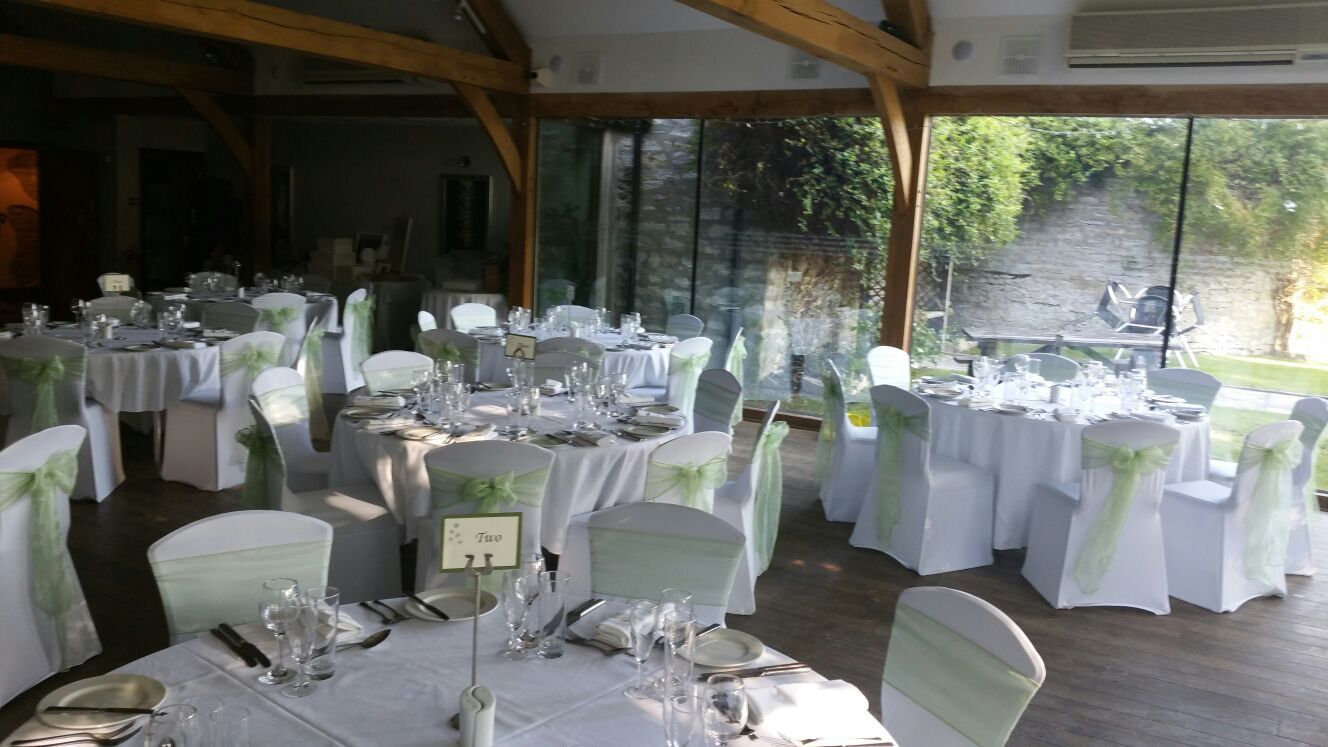 chair covers yeovil beach towel lounge sage green on white at the northover manor ilchester