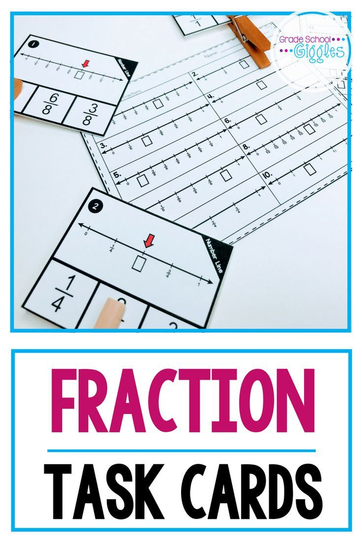 Fraction Task Cards for 3rd Grade | Worksheets, Activities and Students