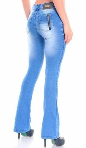 99883e952c calça jeans flare boca de sino feminina linda