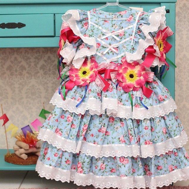 vestido para festa junina infantil - Pesquisa Google