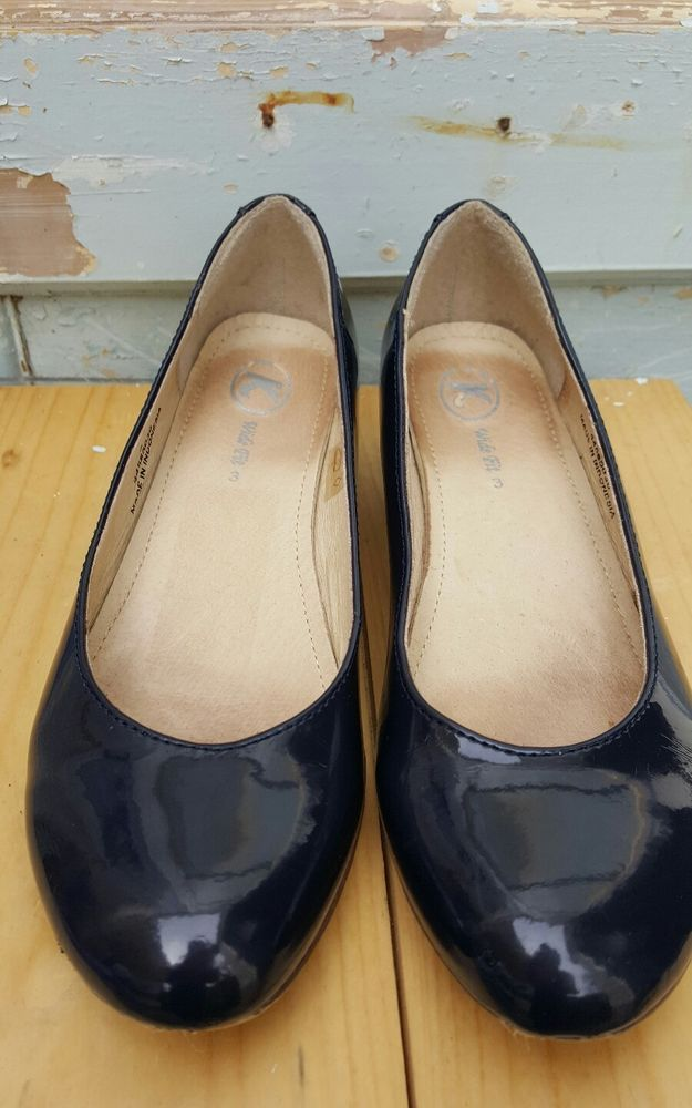 clarks ladies navy blue shoes