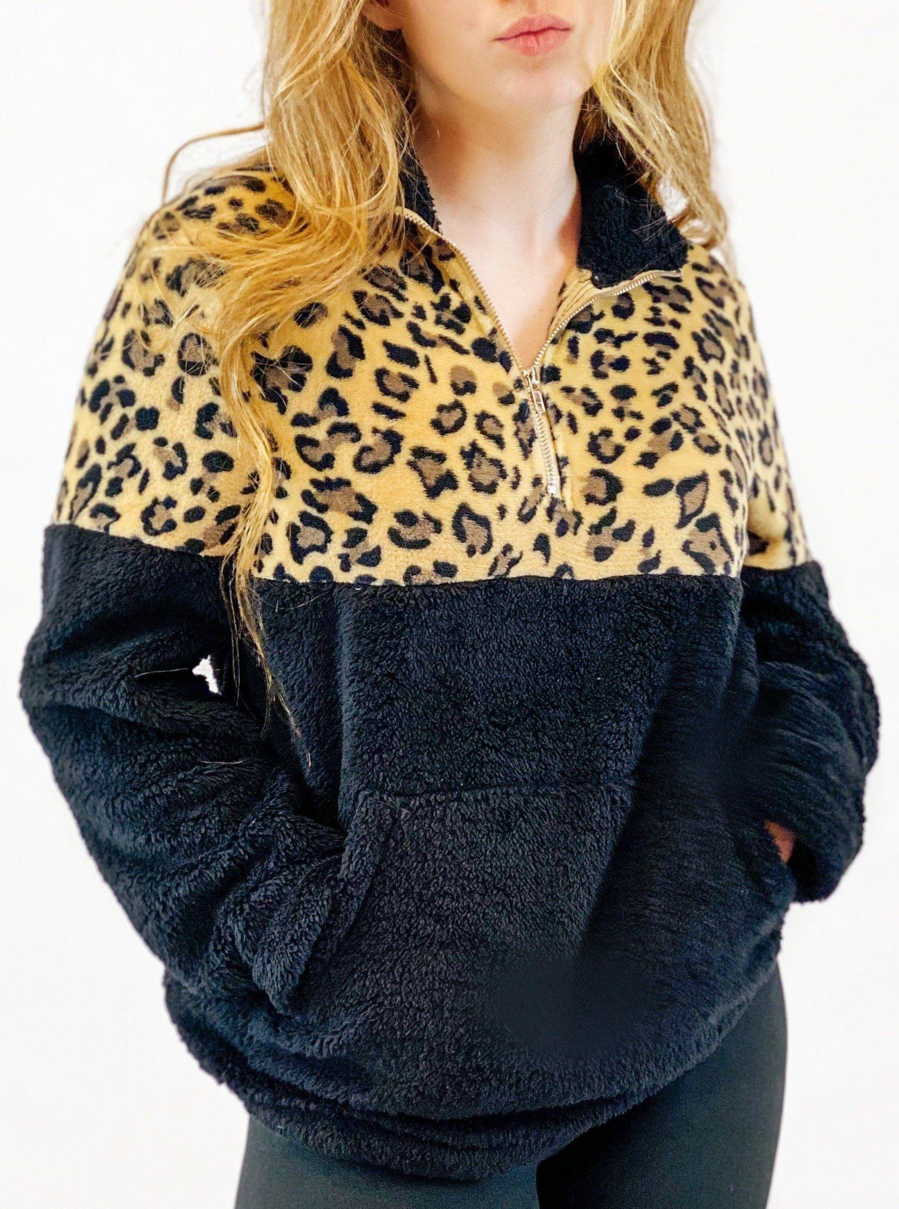 Lazy Sunday Fleece Pullover - Black - Large