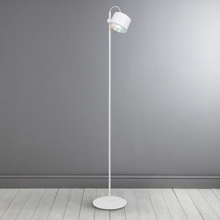 Idual Jasmine Modern Round White Floor Lamp With Remote Control