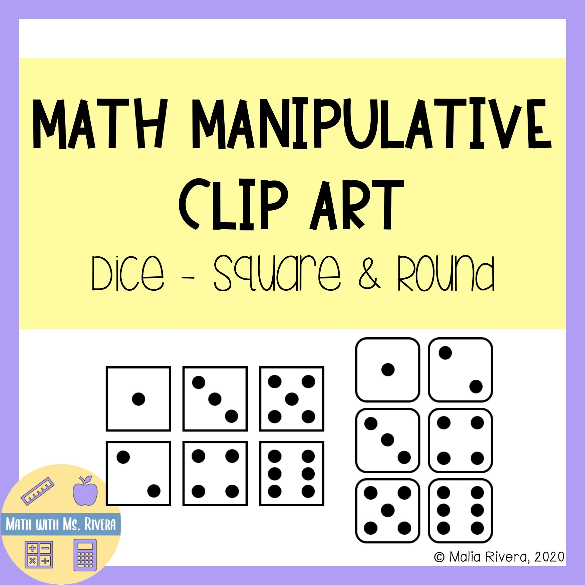 Math Manipulatives Clip Art Dice In