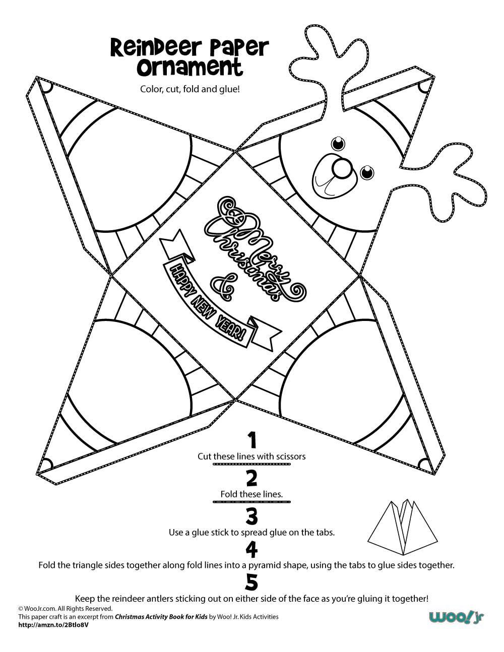 Printable Christmas Ornaments Woo Jr Kids Activities Printable Christmas Ornaments Christmas Paper Crafts Paper Crafts For Kids