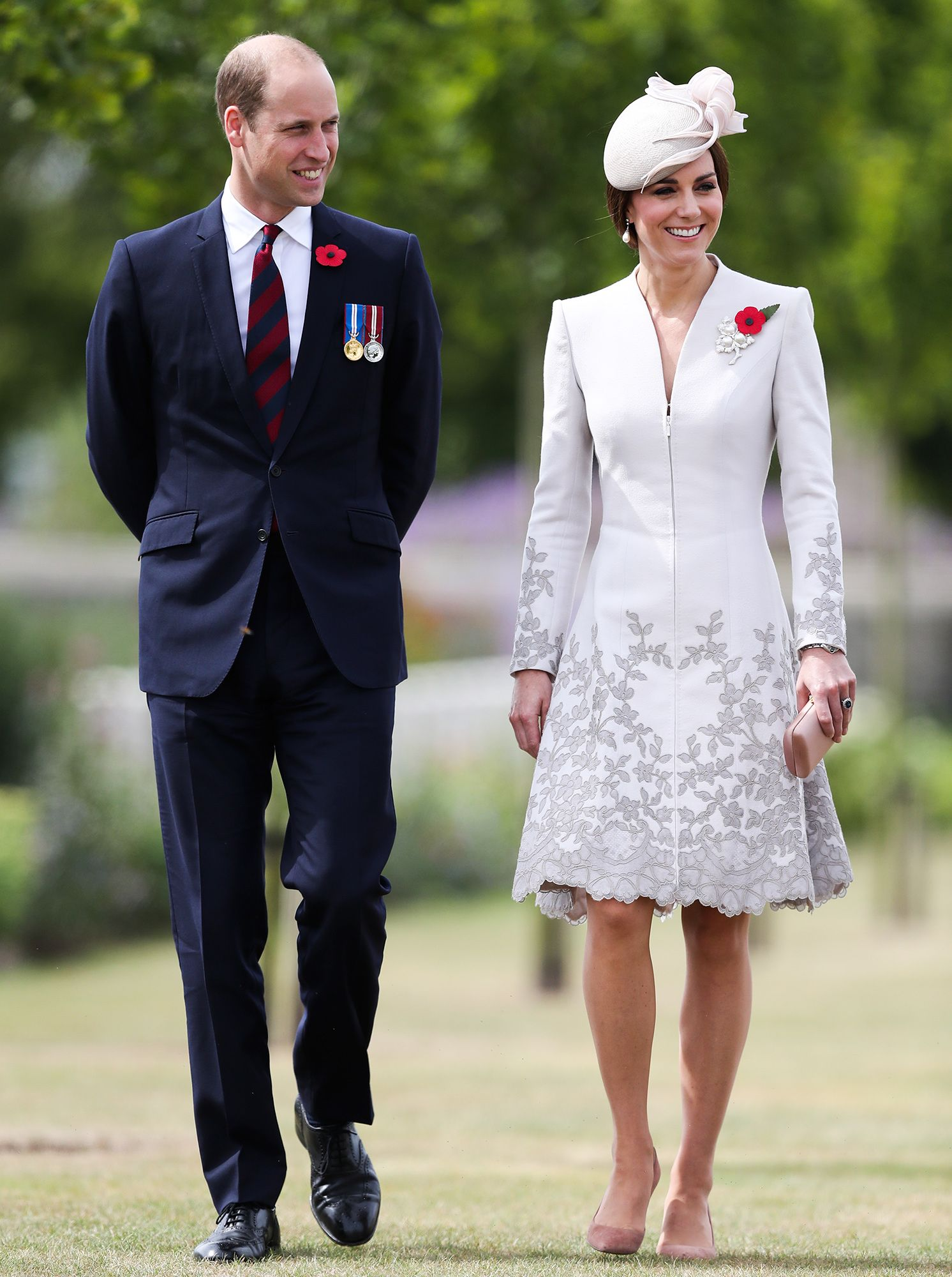 Prince William, Duke of Cambridge and Catherine, Duchess of Cambridge attend the commemorations at the Tyne Cot Commonwealth War Graves Cemetery on July 31, 2017 in Ypres, Belgium. The commemorations mark the centenary of Passchendaele - The Third Battle of Ypres.