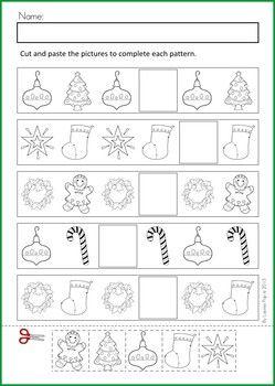 Christmas Math & Literacy Worksheets & Activities No Prep ...