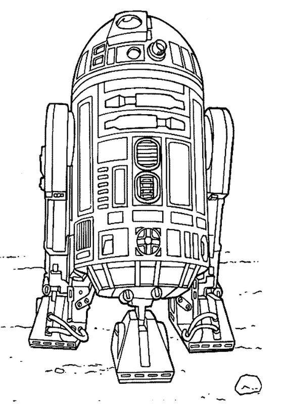 Malvorlagen Star Wars Bild Das Freundliche Droid R2 D2 Star Wars Malbuch Ausmalbilder Ausmalblatt