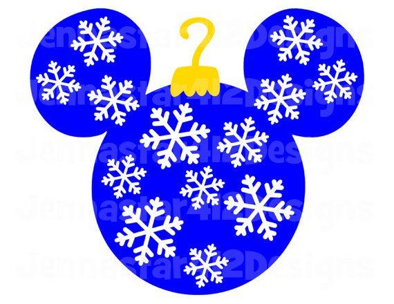 Christmas Mickey Ornament DIY Printable Iron On Transfer Digital File