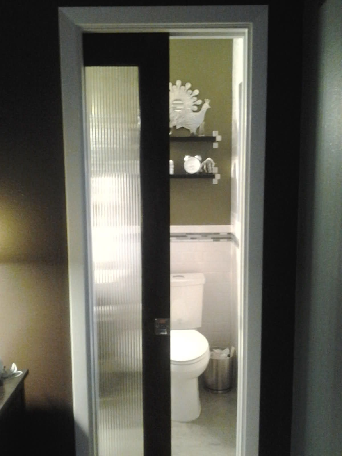 Glass Pocket Door For Small Bathroom Chez Ross Ii  Pinterest Magnificent Doors For Small Bathrooms Design Decoration