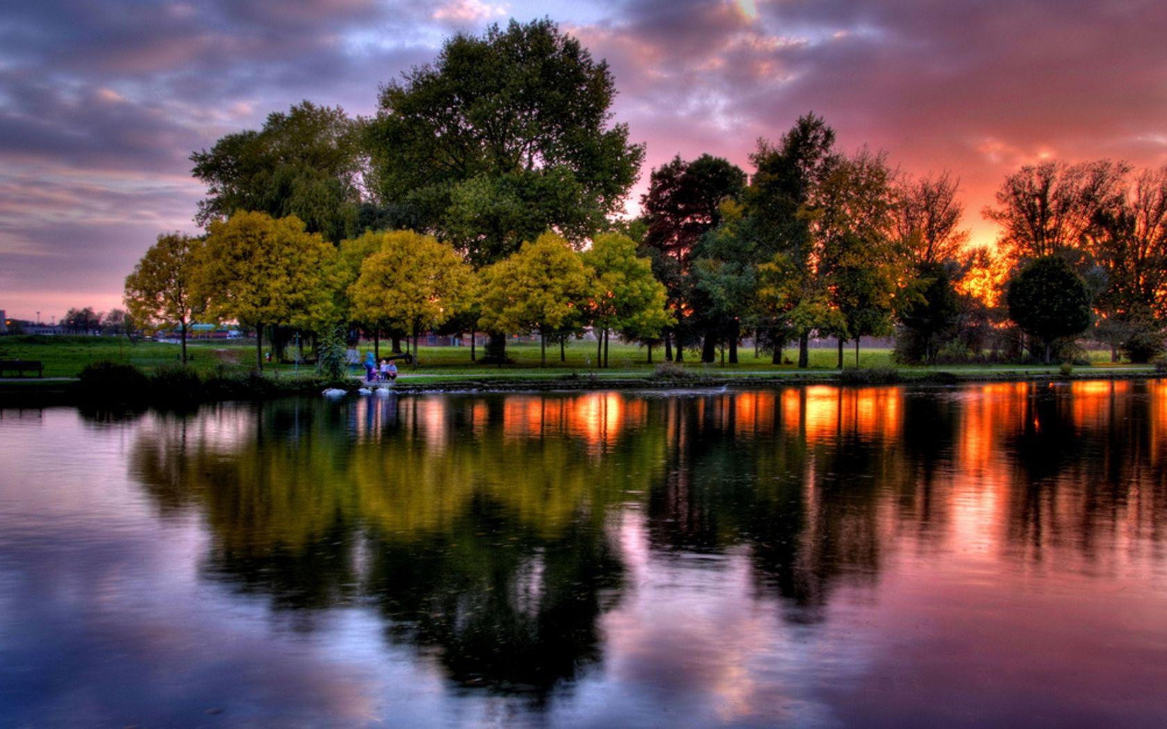 Peaceful Landscapes Landscape Nature Peaceful People Reflection Sky Sunset Tree Landscape Nature Sunset Nature