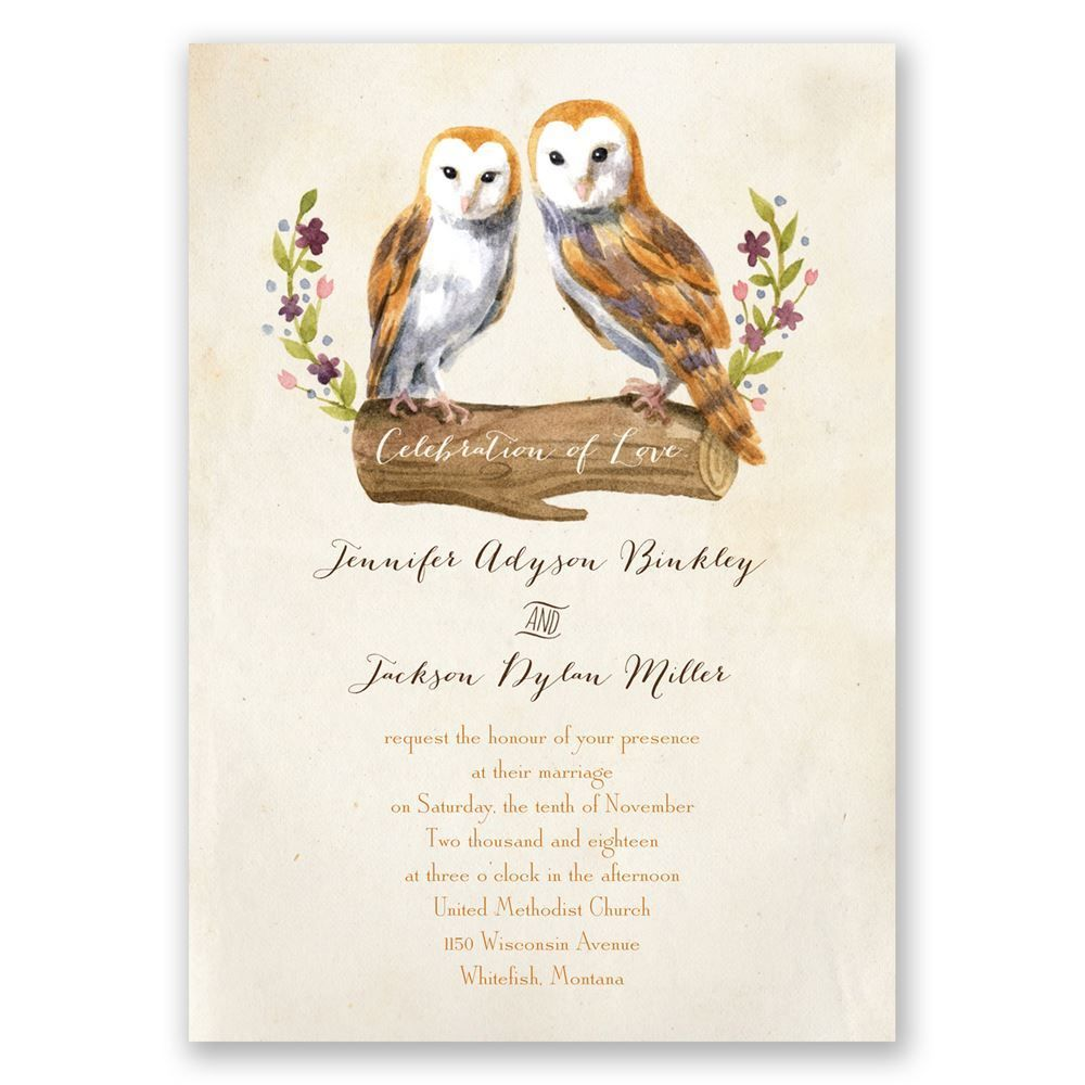 Vintage Owls Invitation