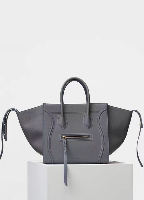 ea62f3b973d1d Celine New Luggage Phantom Square Bag 3341 Grey-Blue | BAGS in 2019 ...