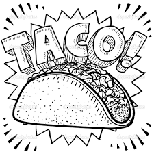 Taco drawing. Shell google search mexican