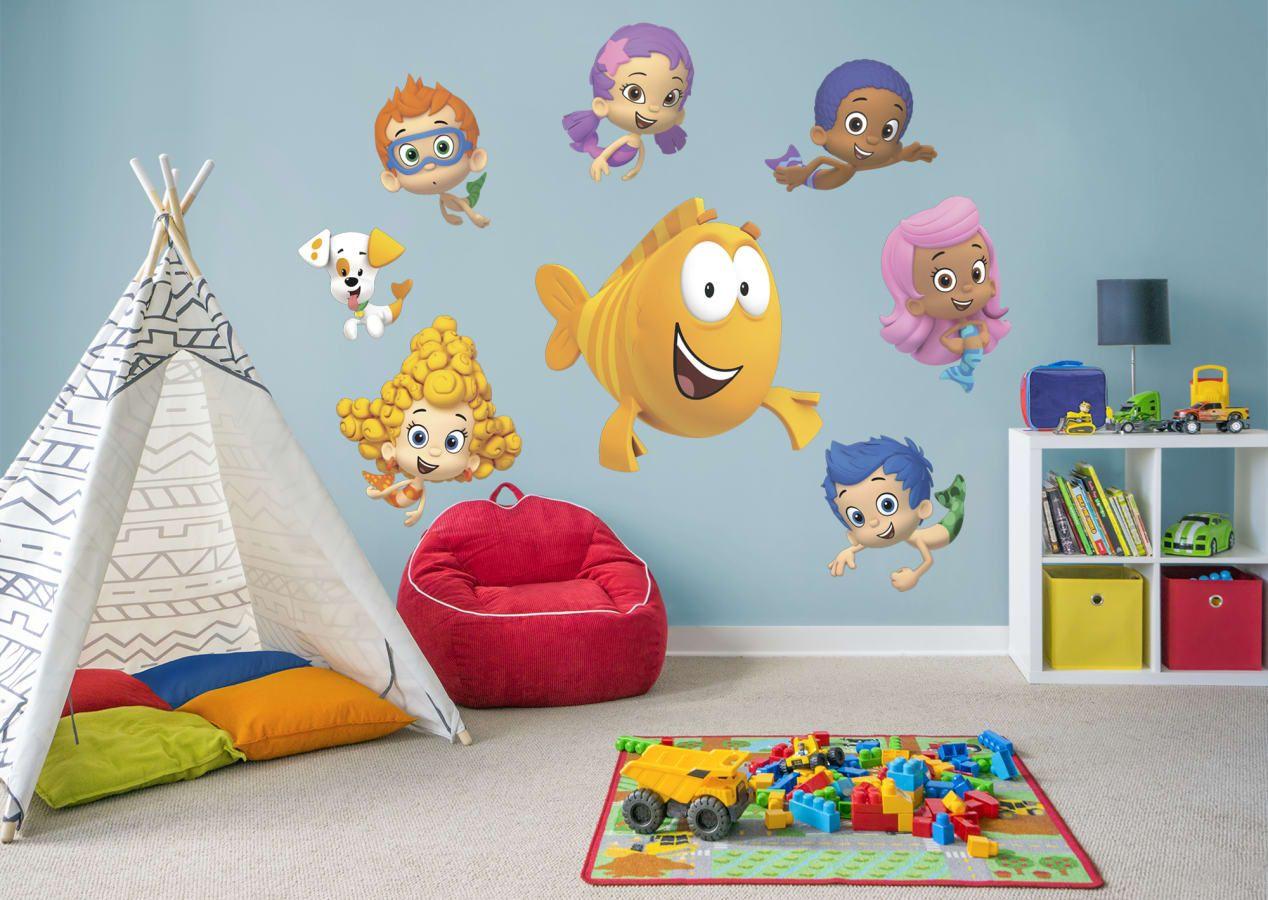 Unisex Nursery Ideas Bubble Guppies Collection Wall Decals Visit Us And Follow Us On Pinterest For Unisex Nursery Decor Unisex Nursery Unisex Nursery Colors Bubble guppies bedroom decor