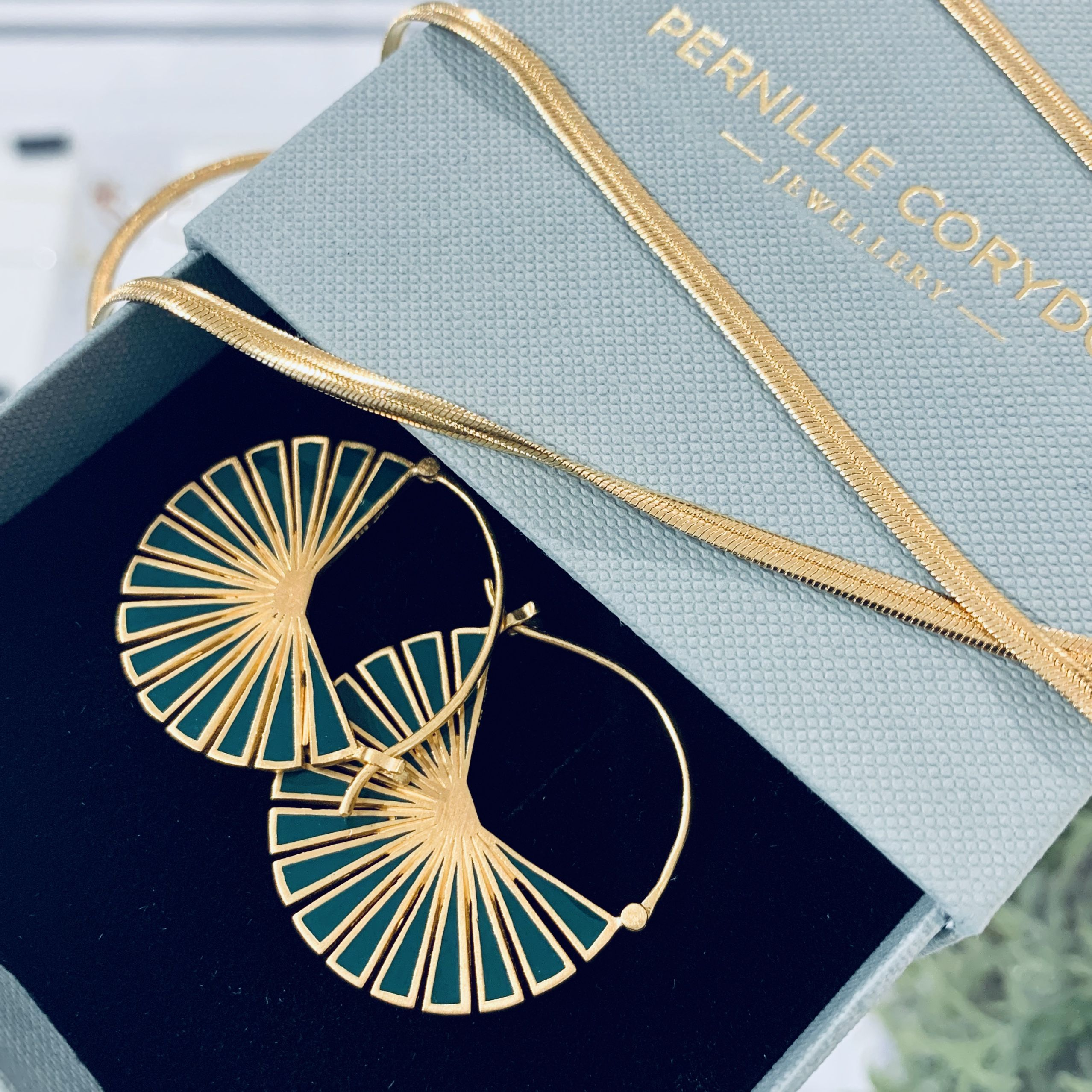 Photo of earrings from danish Pernille Corydon.