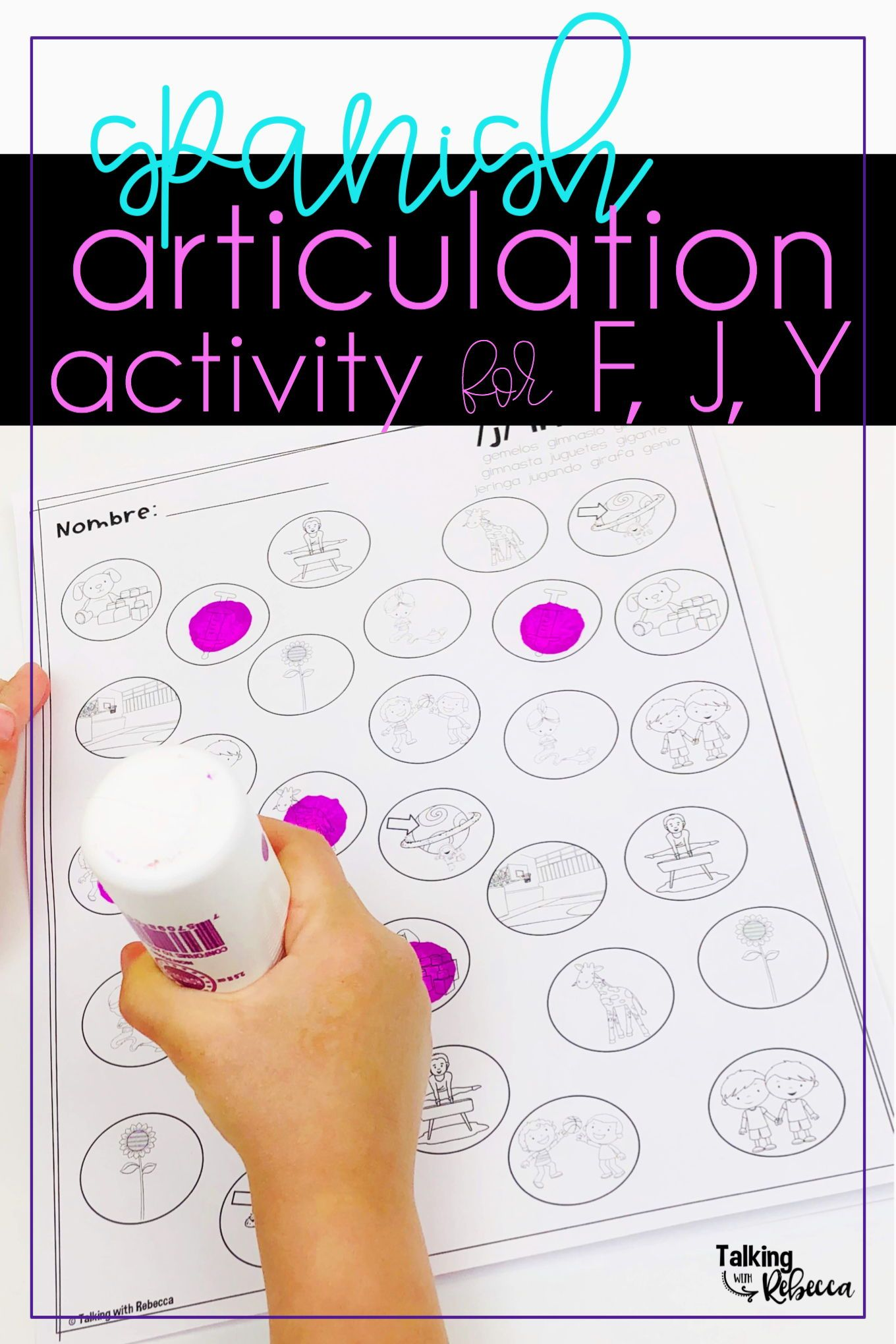 Spanish Speech Therapy Articulation Activity For F J Y