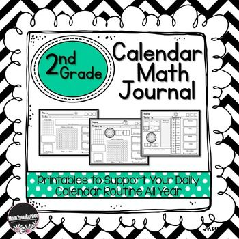 This calendar math journal is designed to compliment your daily calendar routine.  I created this product to specifically support the 2nd Grade Every Day Counts Calendar program. However, the elements are pretty standard for any calendar routine you may have.Calendar Math Journal Contents:1 journal page for each month Aug-May (3 options per month: name of month filled in, name of month to trace, name of month left blank)  Monthly journal cover pages with new math vocabulary words.Spirals…