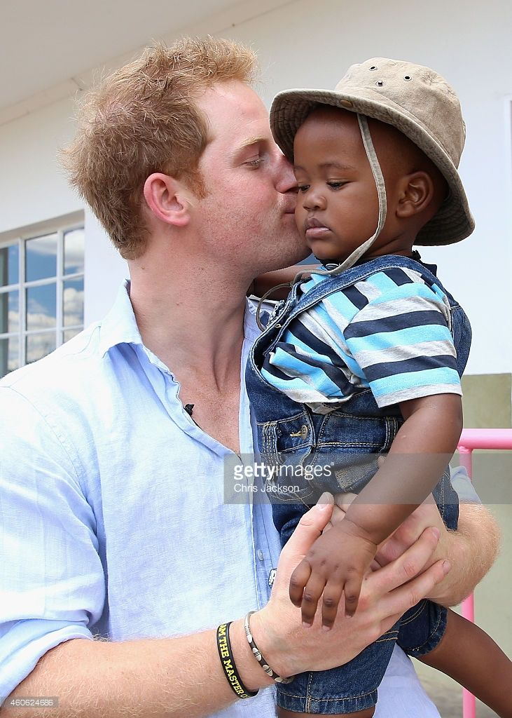 Prince Harry in Africa.